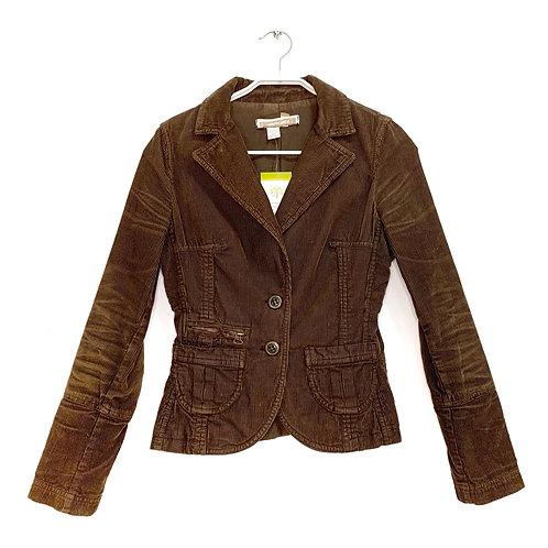 Zara Corduroy Jacket Brown Size S