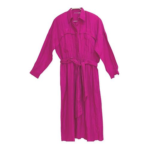 Vintage Silk Long Sleeve Dress Size M/L
