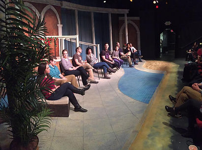 A talkback with the cast of Much Ado. Photo courtesy of NextStop Theatre