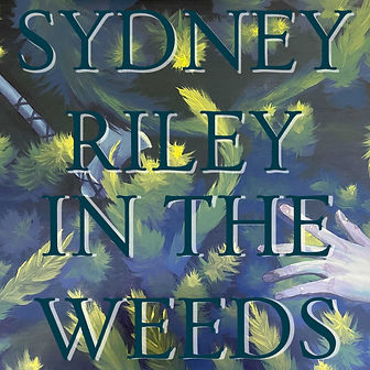 A hand reaching underwater for an axe with weeds in the background. Album artwork for in the weeds.