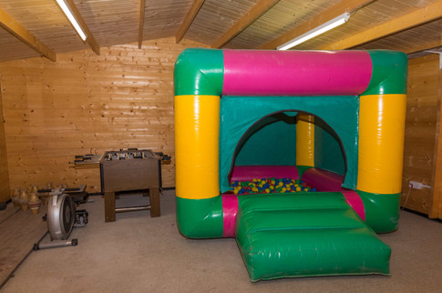 Blow up ball pit
