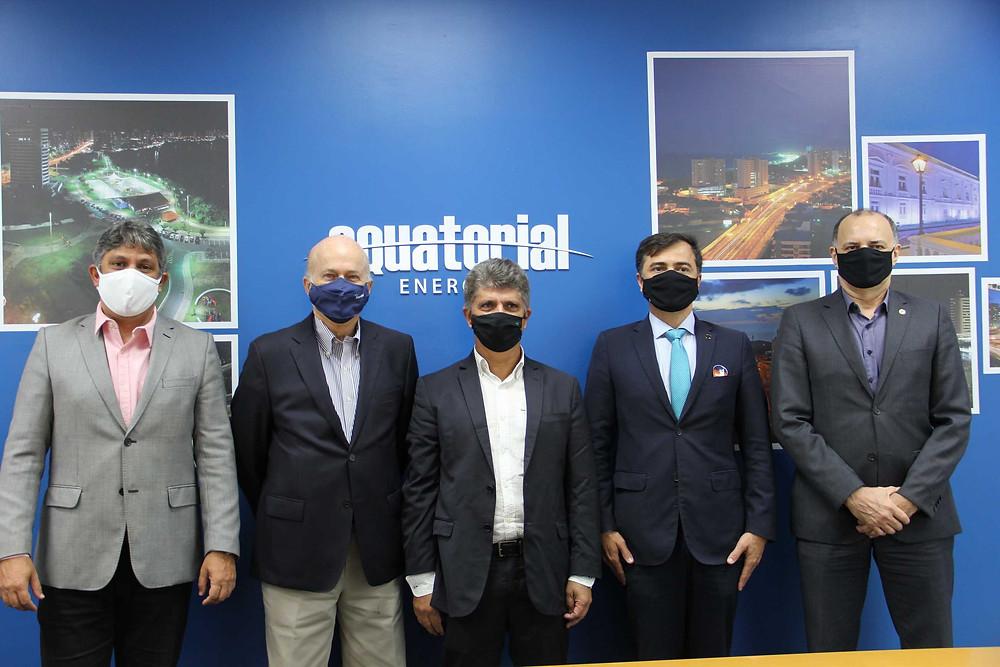 Augusto Dantas (Pres Equatorial MA), Lauro Fiúza (Conselheiro Gera MA), Sandoval Feitosa (Dir Aneel) e Fernando Carvalho (Pró-Reitor Agência Inovação UFMA).