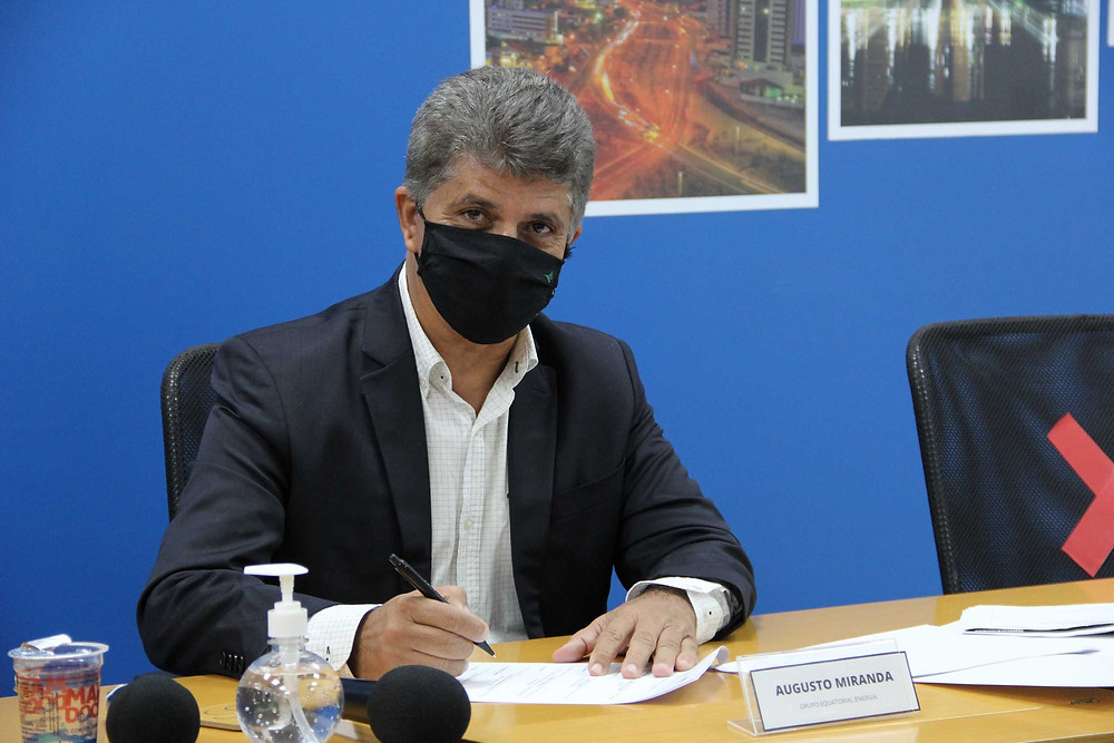 O CEO do Grupo Equatorial Energia Augusto Miranda fez questão de participar do evento presencialmente.