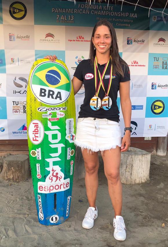 Socorro Reis leva ouro e bronze no Pan-Americano de Kitesurfe