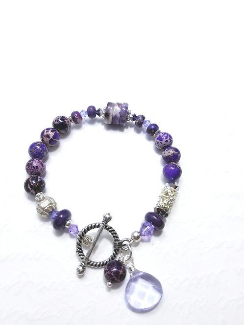 Winter Violets Jaspur Bracelet