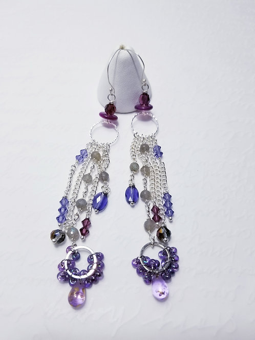 Winter Violets Gemstone Dangle Earrings