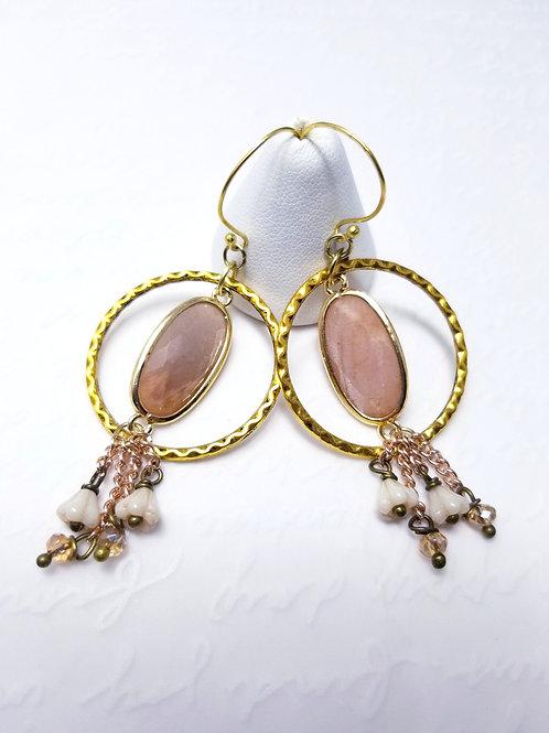 Winter Affair Moonstone Earrings