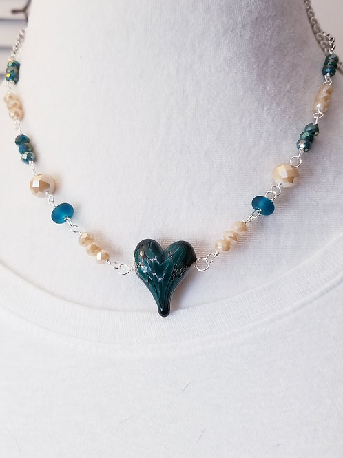 Winter Verdis Heart Necklace