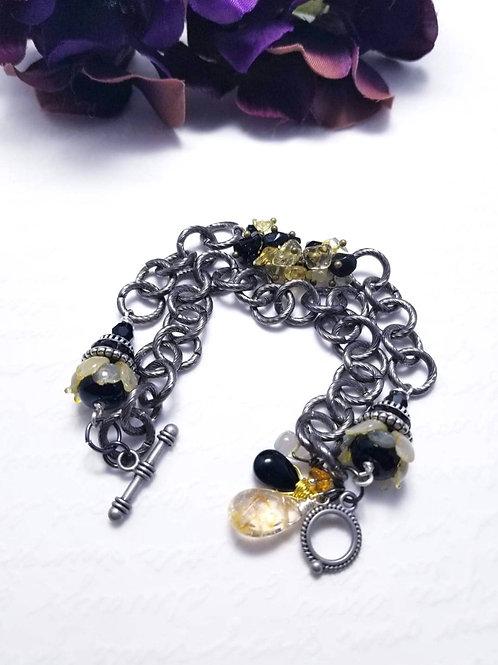 Winter Verdis Metallic Floral Bracelet