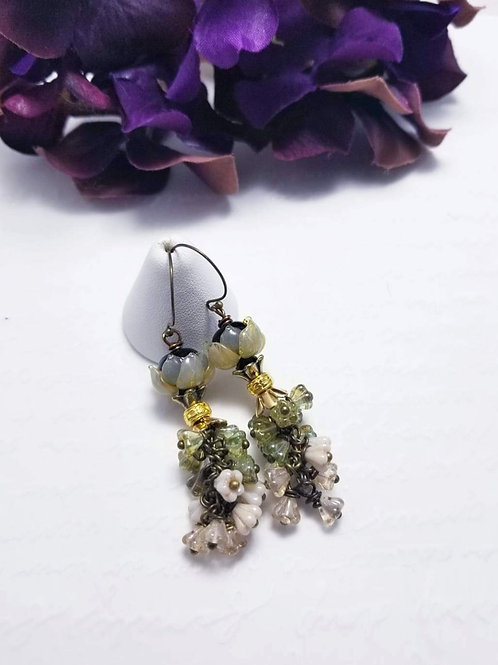 Winter Verdis Floral Bouquet Earrings