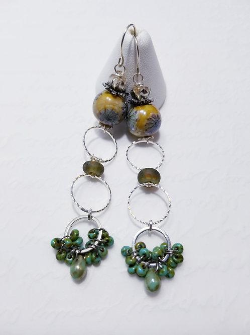 Winter Verdis Cluster Dangle Earrings