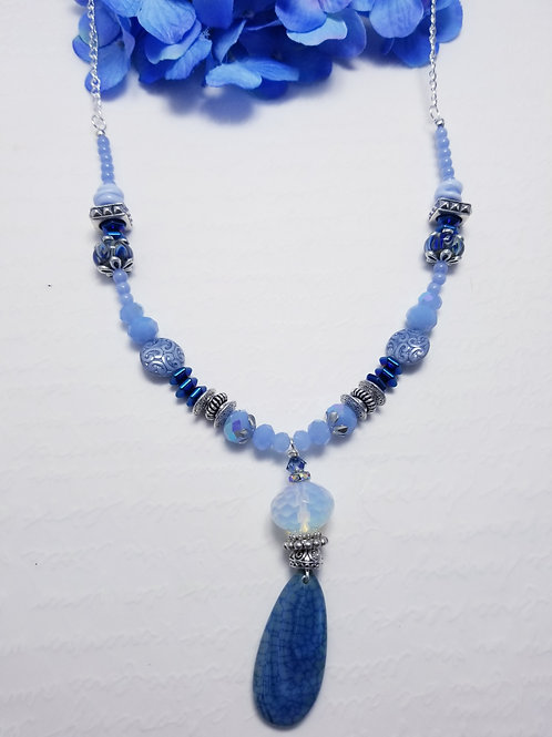 Iced Winter Drop Necklace