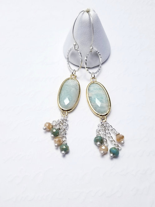 Winter Verdis Chalcedony Earrings