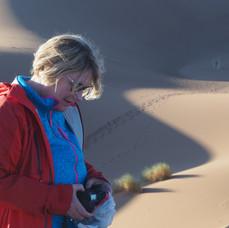 Inger i sanddynene  Foto: PER S WIIK