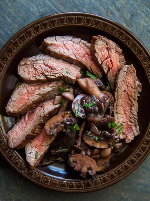 Flank Steak w/ Mushrooms