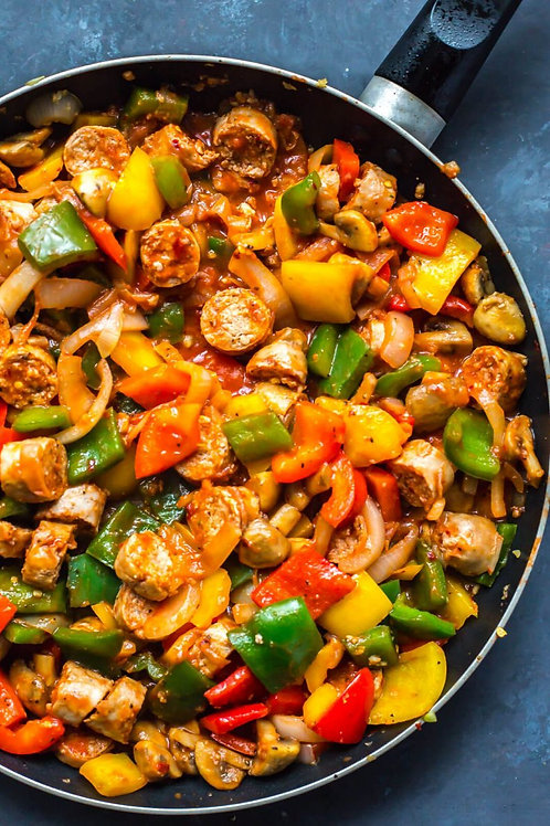Turkey Sausage & Peppers