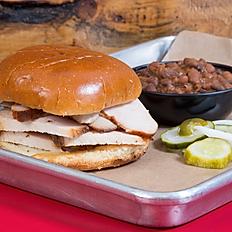 Sliced Turkey Sandwich