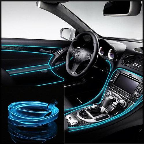 Car Dashboard Neon Light Wire - Ice Blue
