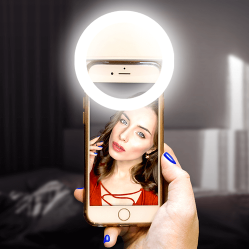 Selfie Ring Light Small For Mobile - USB Charge - Portable Flash Led