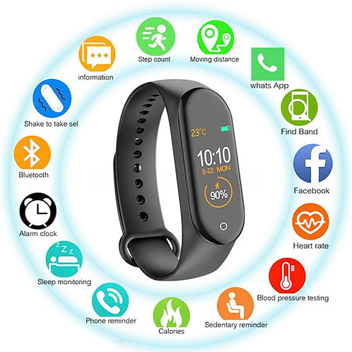 M4 Smart Band Heart Rate Bluetooth Fitness Tracker Watch