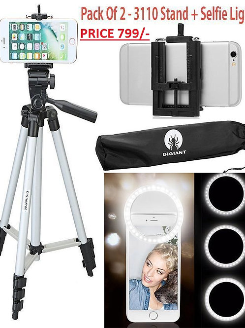 Tik Tok Deal Pack Of 2 3110 Tripod Camera Stand For All Mobiles Camera With 36 M