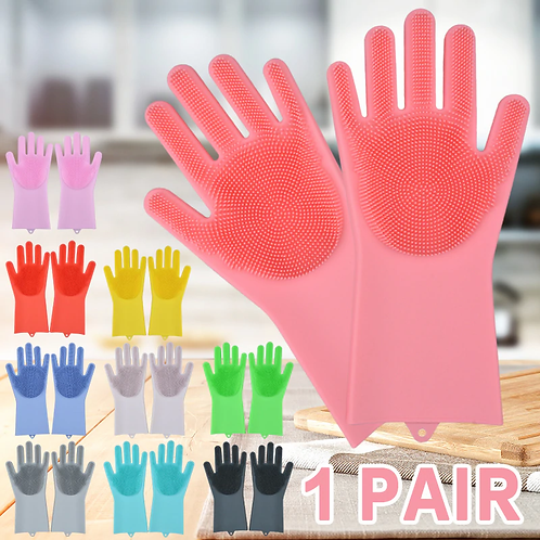 New Magic Multi Functional Silicone Scrubber Bristly Gloves