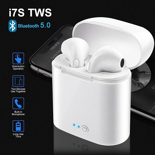 I7S True Wireless Bluetooth TWS Double Earphones For all Smart Phone