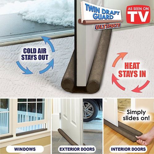 Pack Of 4 Door Draft & Dust Stopper