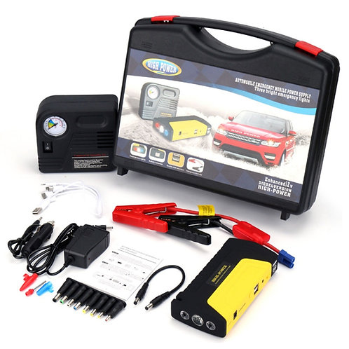 Imported High Power Car Jump Starter Battery (50800 MAH) With Air Compressor