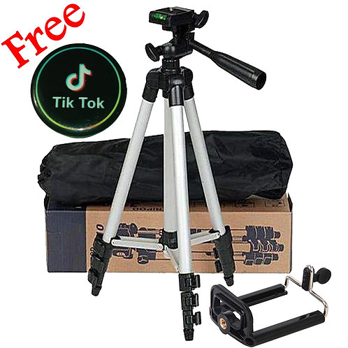 Tik Tok Tripod Camera Stand For Making Videos In Mobile Phones 3110 With Mobile