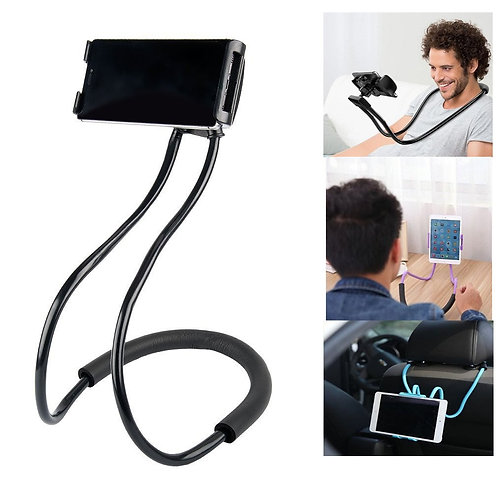 Lazy Bendable Customizable Hang Neck Phone Holder Smartphone Stand 360 Degree