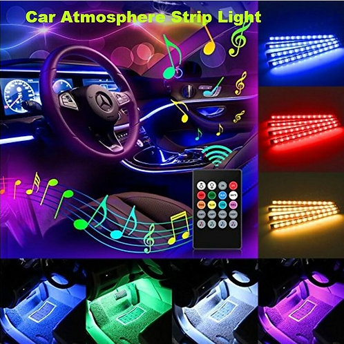 Car Interior Atmosphere Light 7 Color with Remote 12 LED