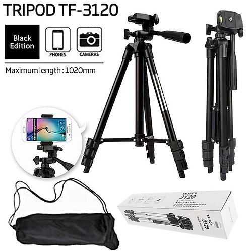 3120 - Tripod Stand with Mobile Holder for TikTok Youtube Live Streaming Videos