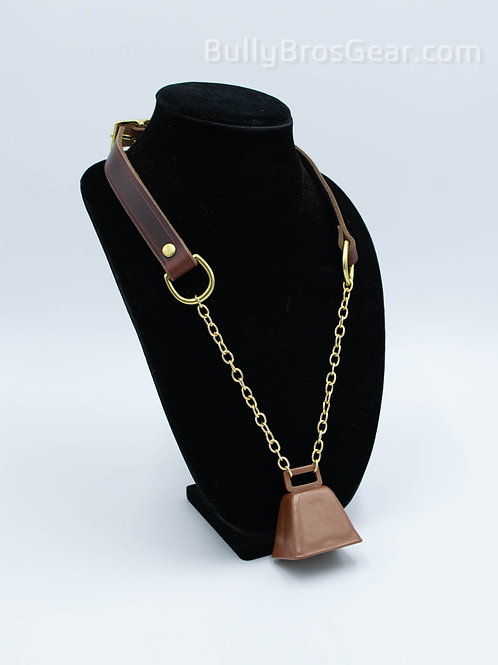 Brown, Gold & Copper Cowbell Collar