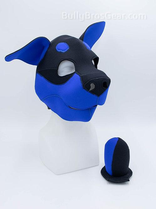 Dark Blue Neoprene Rottie Hood & Tail