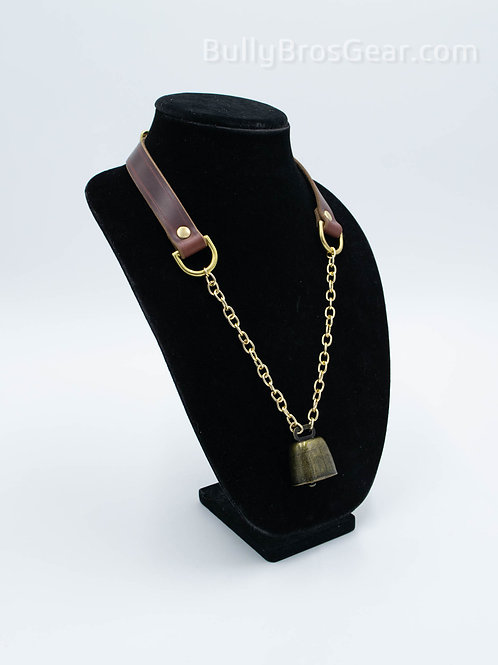 PRE-ORDER: Leather Cowbell Collar
