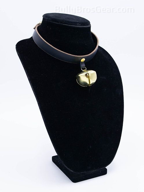 Pet Bell Leather Collar