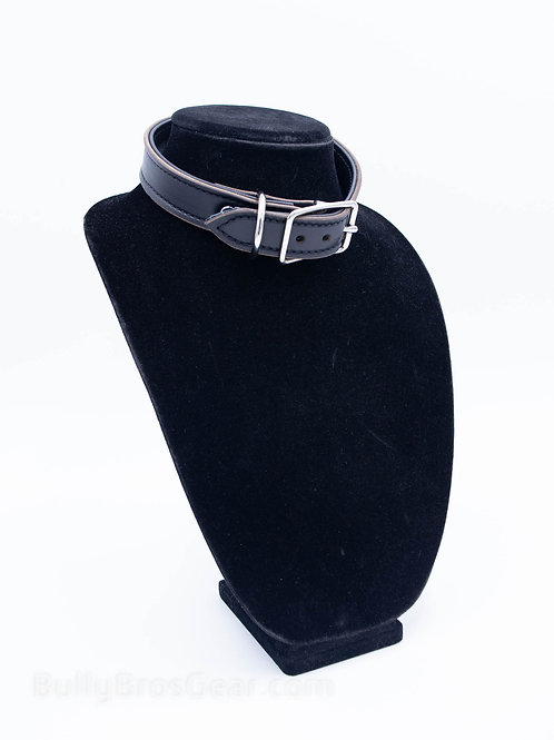 Onyx Leather Collar