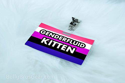 Genderfluid Pride Pet Tags