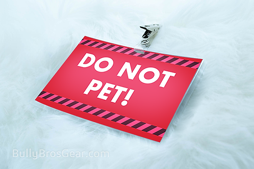 Do Not Pet! - Large Tag