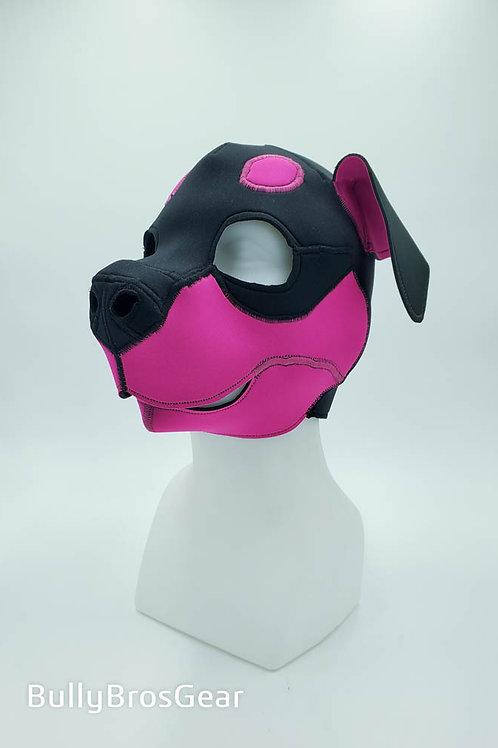 Pink Neoprene Rottweiler Hood - Old Style