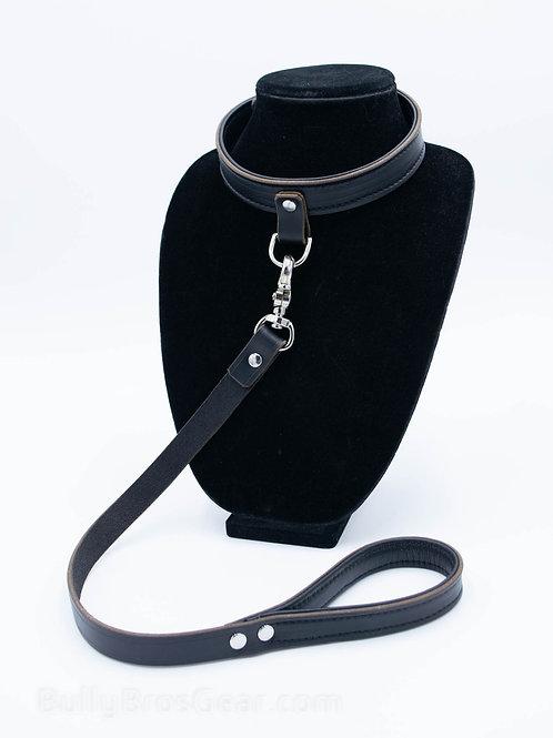 Short Onyx Leather Leash