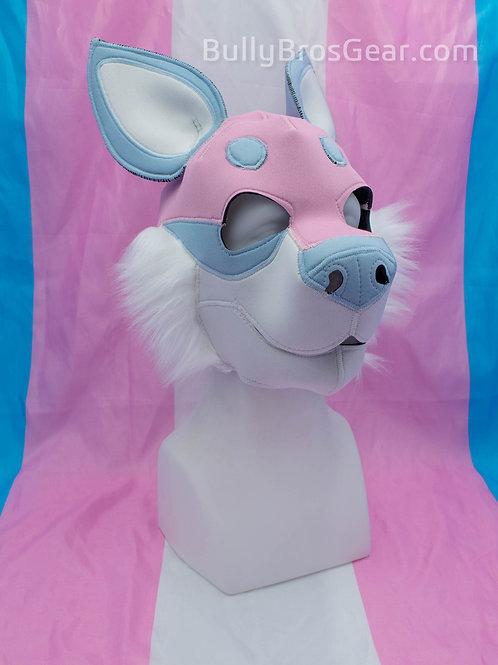 Trans Flag Pup Hood - Pink