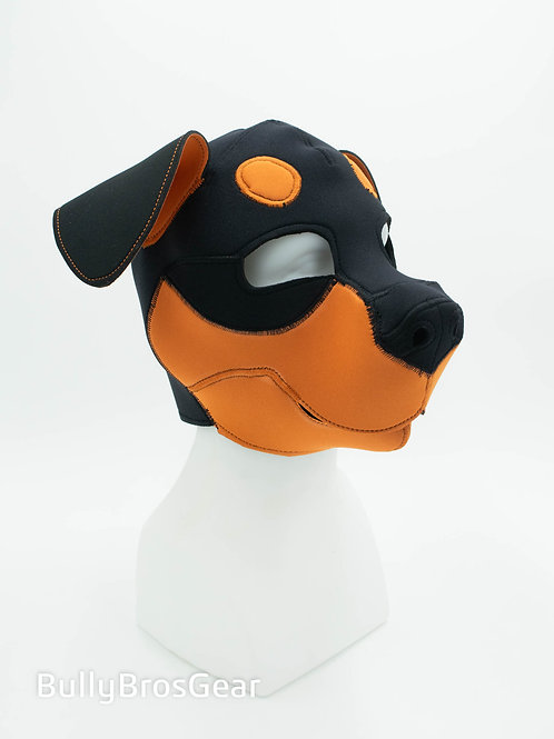Orange Neoprene Rottweiler Pup Hood