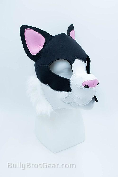 Neoprene Tuxedo  Cat Hood