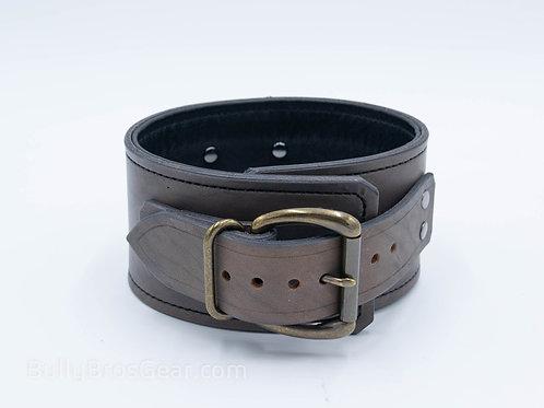 "3"" Grey Leather Posture Collar"