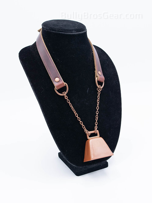 Brown & Copper Cowbell Collar