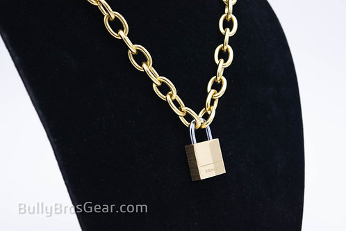 Locking Chain Collar- Solid Brass