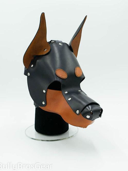 Leather Doberman Hood
