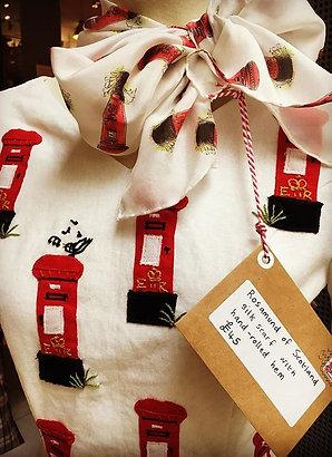 Postbox Silk Scarf
